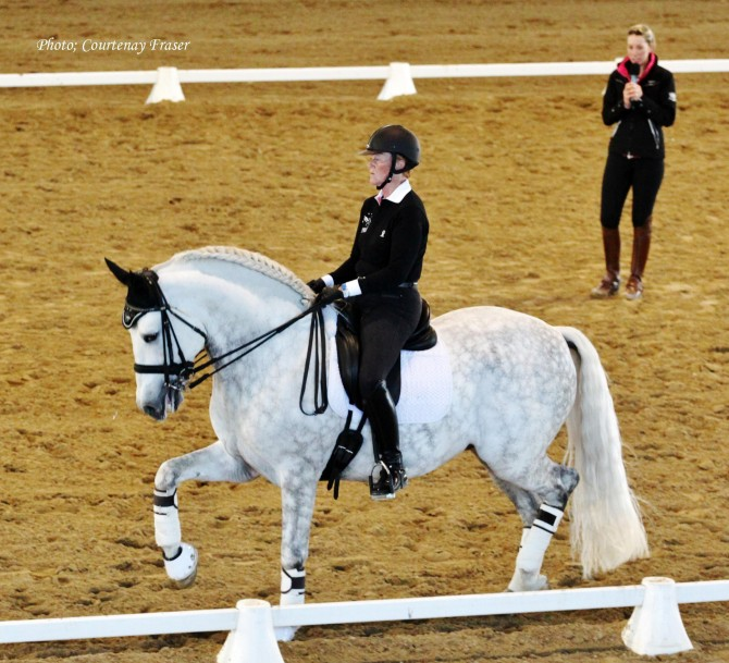 Canadian olympic rider Leslie Reid and her PRE - Yeguada Vikinga PRE